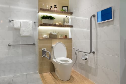 How can you adjust your bathroom to suit aging members of your household